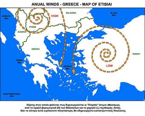 Le meltem, vent des Cyclades